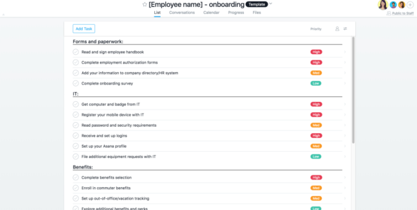 How To Use Asana For Onboarding New Hires | Product Guide · Asana With Employee Task Tracking Template