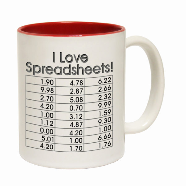 I Heart Spreadsheets Mug Fresh I Love Spreadsheets Tea Novelty With I Heart Spreadsheets