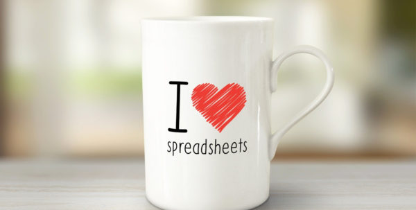 I Heart Spreadsheets Mug Unique I Love Spreadsheets Mug Novelty Mugs With I Heart Spreadsheets