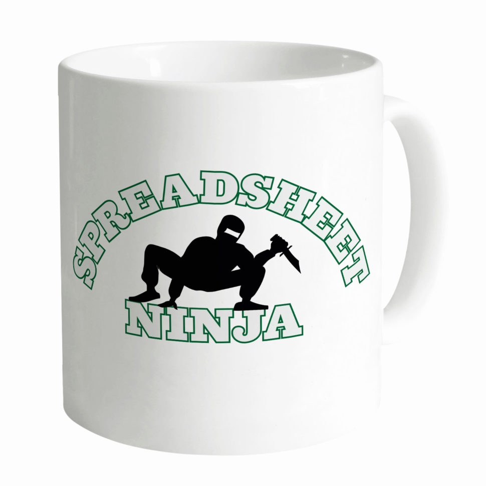 I Love Spreadsheets Mug Elegant Spreadsheet Ninja Mug Amazon Kitchen For Spreadsheet Mug