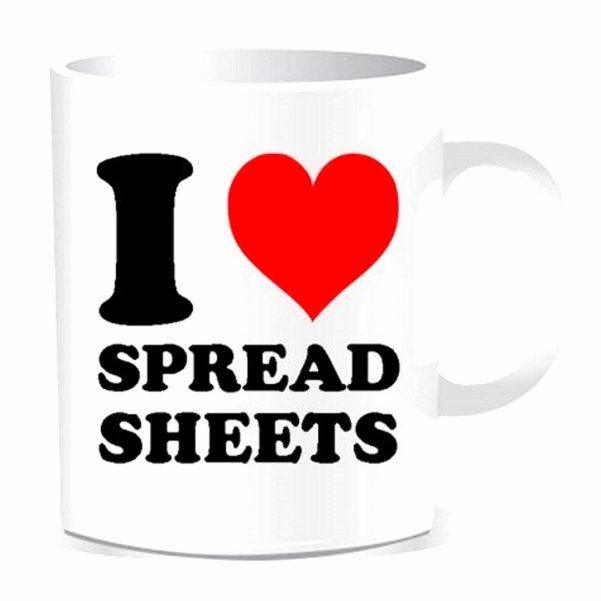 I Love Spreadsheets Mug Luxury I Love Spreadsheets Mug Unique Intended For I Heart Spreadsheets Mug