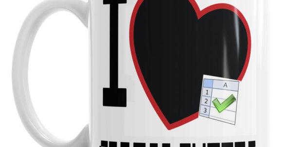 I Love Spreadsheets Novelty Office Accountant Coffee Mug Tea Cup Inside I Heart Spreadsheets Mug