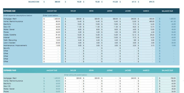 Ic Google Spreadsheet Shared Expense Calculator Template Stunning With Household Budget Calculator Spreadsheet