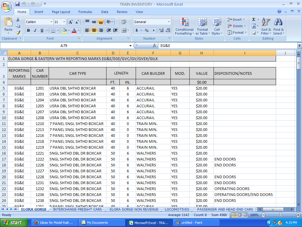 Ideas For Model Railroad Inventory   Excel Spreadsheet Vs. Software Throughout Software Inventory Spreadsheet