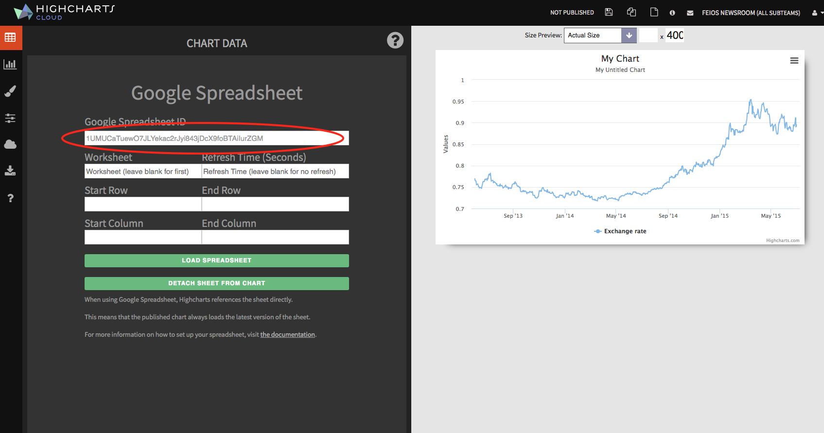 Import Data From Google Spreadsheet   Highcharts Throughout Spreadsheet Cloud