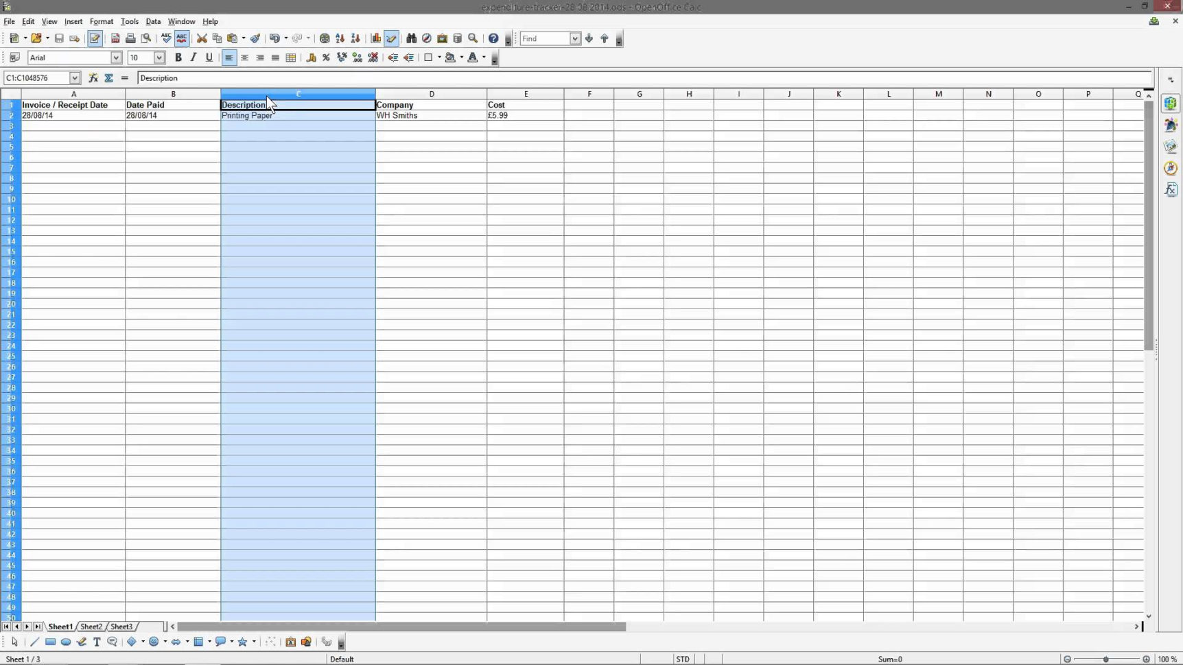 Income And Expenses Spreadsheet For Small Business Throughout Business Expenditure Spreadsheet