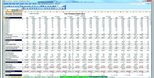 Income Projection Template Business Plan Financial Projections Excel With Financial Projections Excel Spreadsheet