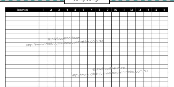 Income Tracker | Allaboutthehouse Printables And Daily Expenses For Daily Expenses Tracker