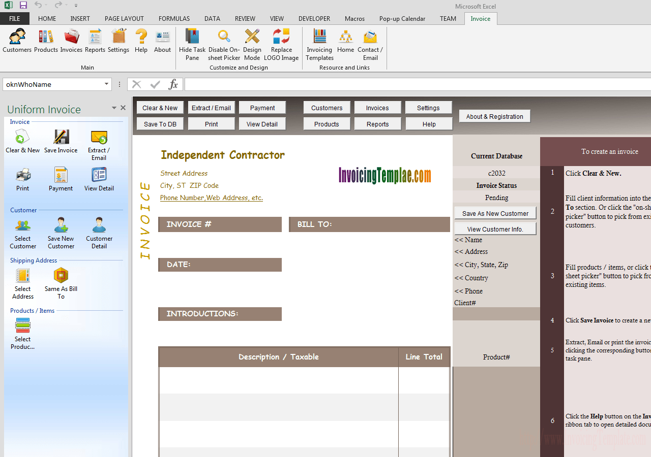 Independent Contractor Invoice For Independent Contractor Invoice Sample