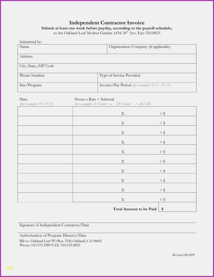 Independent Contractor Invoice Template Electrical Forms Beautiful Intended For Independent Contractor Invoice Sample