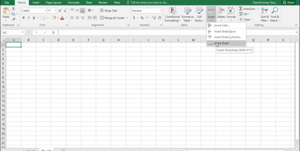 Inserting And Deleting Worksheets In Excel  Tutorial With Excel Spreadsheets For Dummies