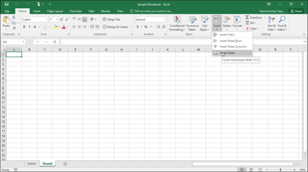 Inserting And Deleting Worksheets In Excel  Tutorial With Help With Excel Spreadsheets