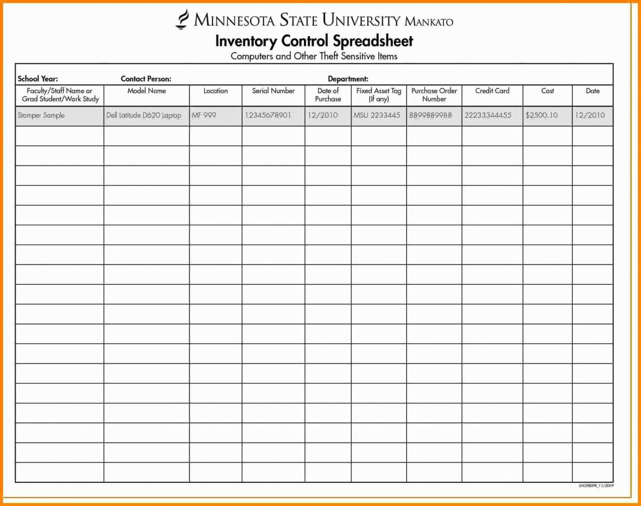 Inventory Control Sheets Free Download | Worksheet & Spreadsheet 2018 In Tool Inventory Spreadsheet