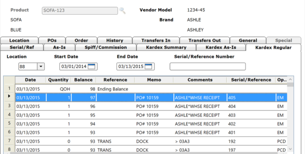 Inventory Management Software For Furniture Retailers | Storis In Inventory Tracking Form