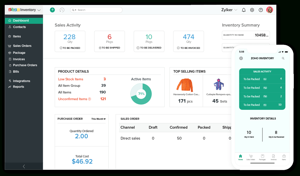Inventory Management Software | Inventory System – Zoho Inventory With Inventory Management Website Template Free Download
