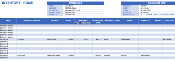 Inventory Spreadsheet Template – Excel Product Tracking | Papillon And Spreadsheet Inventory