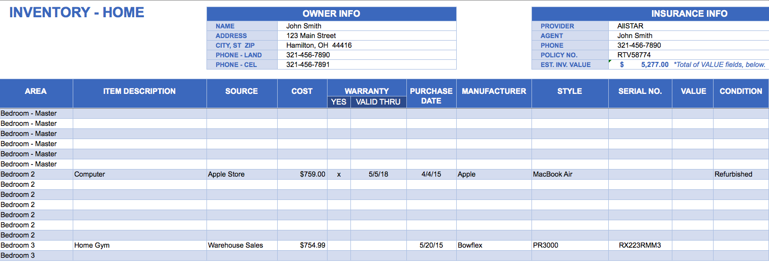 Inventory Spreadsheet Template – Excel Product Tracking | Papillon For Inventory Tracking Sheet Template