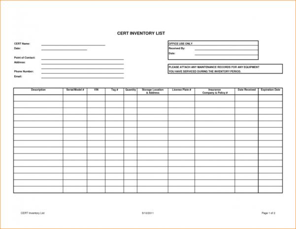 Inventory Tracker Excel Free Download   Zoro.9Terrains.co Throughout Inventory Control Software In Excel Free Download