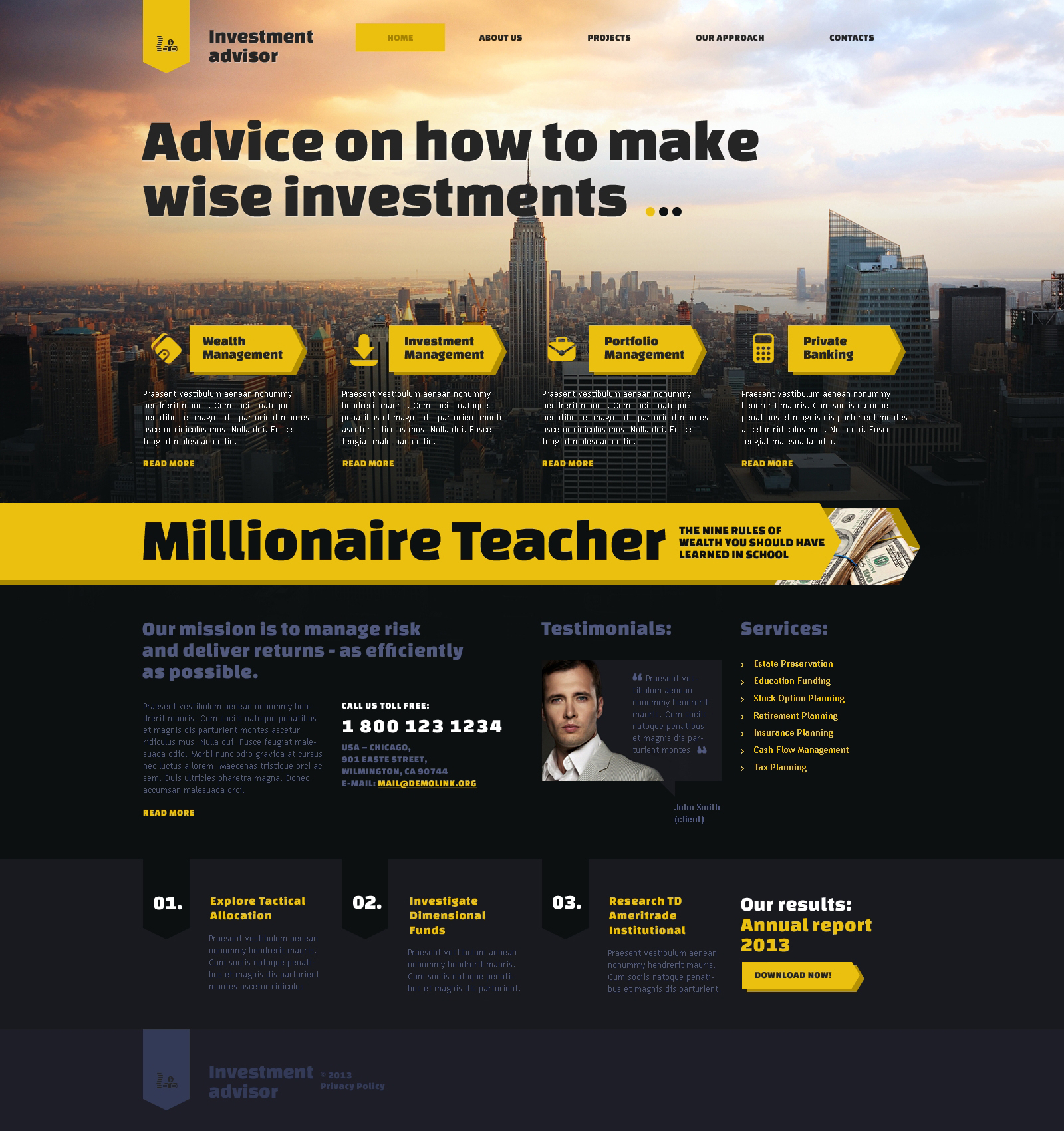Investment Company Responsive Website Template #47483 Intended For Company Templates
