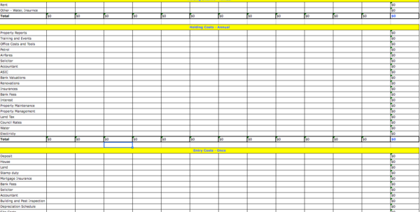 Investment Property Spreadsheet For Tax Within Tax Spreadsheets
