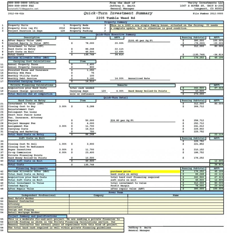 Investment Property Spreadsheet Template Of Example Rentallculator For Real Estate Investment Calculator Spreadsheet