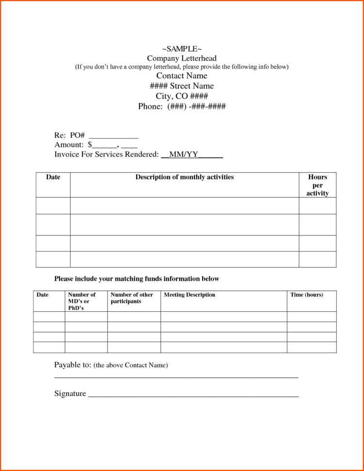 Invoice For Independent Contractor   Zoro.9Terrains.co With Independent Contractor Invoice Sample