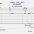 Invoice Shipping Extraordinary Shipping Invoice Example Zoro To Shipping Invoice Template
