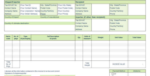 Invoice Template For Word And Invoice Templates For Microsoft Word