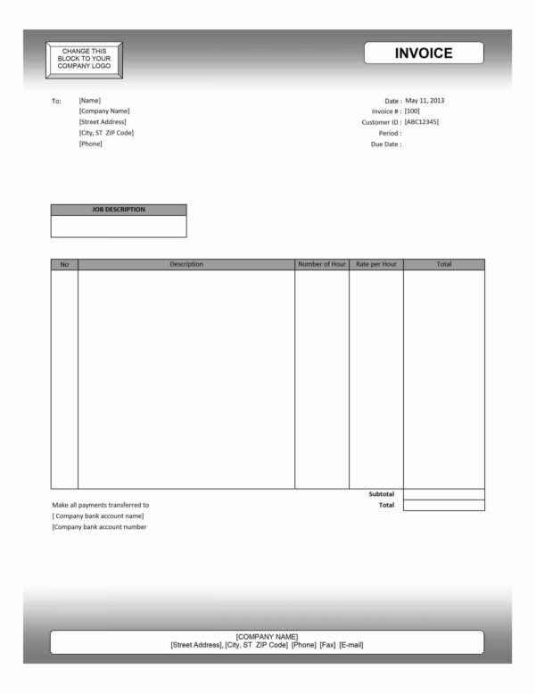 Invoice Template Mac Invoice Template Download – Templaterecords To Invoice Templates For Mac