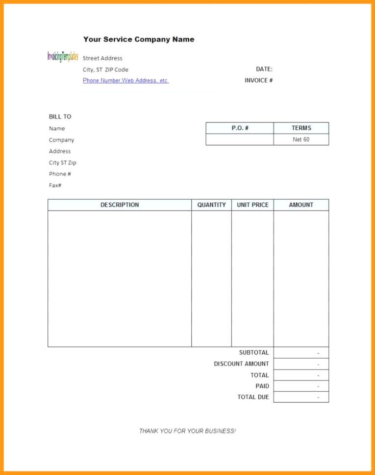 Invoice Template Open Office Free 0 – Colorium Laboratorium Within Invoice Template Open Office