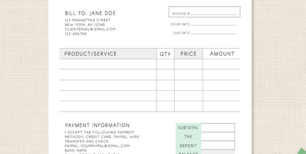 Invoice Template Photography Invoice Business Invoice | Etsy Throughout Photography Invoice Template