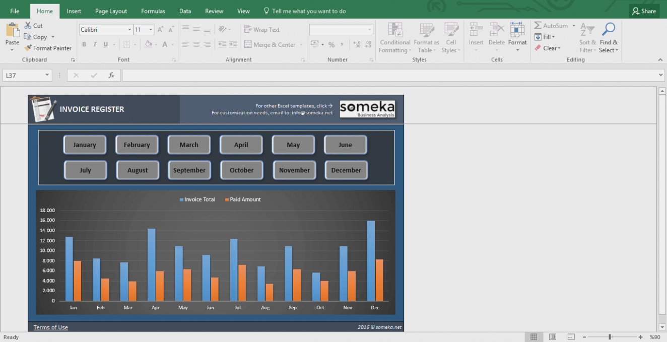 Invoice Tracker – Free Excel Template For Small Business – Excel intended for Free Excel Spreadsheet Templates For Small Business