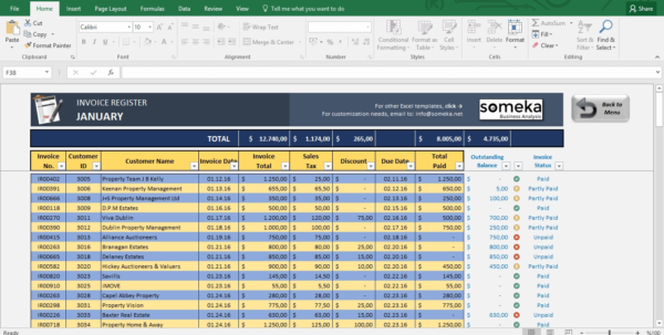 Invoice Tracker Free Excel Template For Small Business Invoice Throughout Invoice Spreadsheet