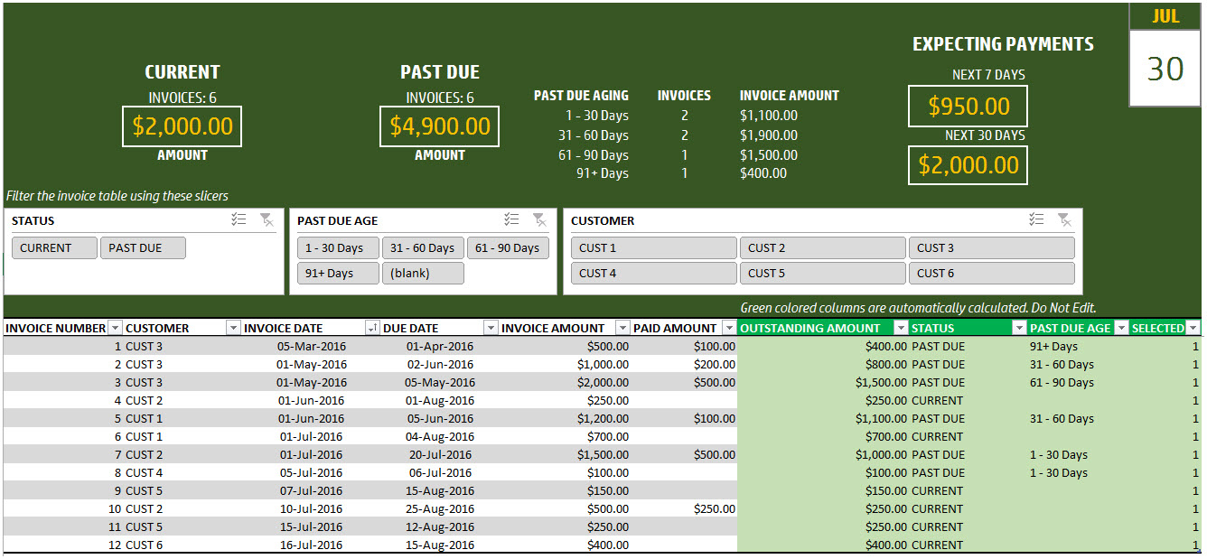 Invoice Tracker Template For Small Business   Free Spreadsheet For How To Create A Sales Tracking Spreadsheet