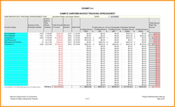 Invoice Tracking Spreadsheet Template 1   Colorium Laboratorium Inside Invoice Tracking Spreadsheet Template