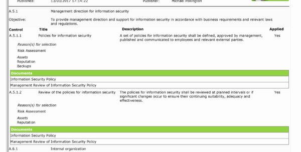 Iso 27001 Controls Spreadsheet Beautiful 50 Fresh Iso Controls Inside Iso 27001 Controls Spreadsheet