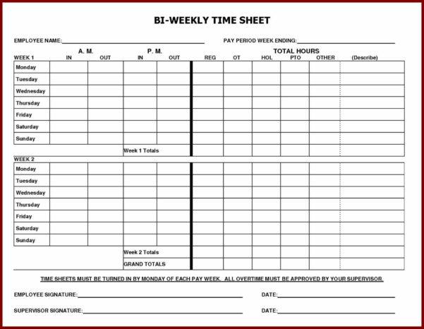 Job Weekly Employee Time Sheet Timesheet Template Sendlettersinfo Throughout Payroll Weekly Timesheet Template