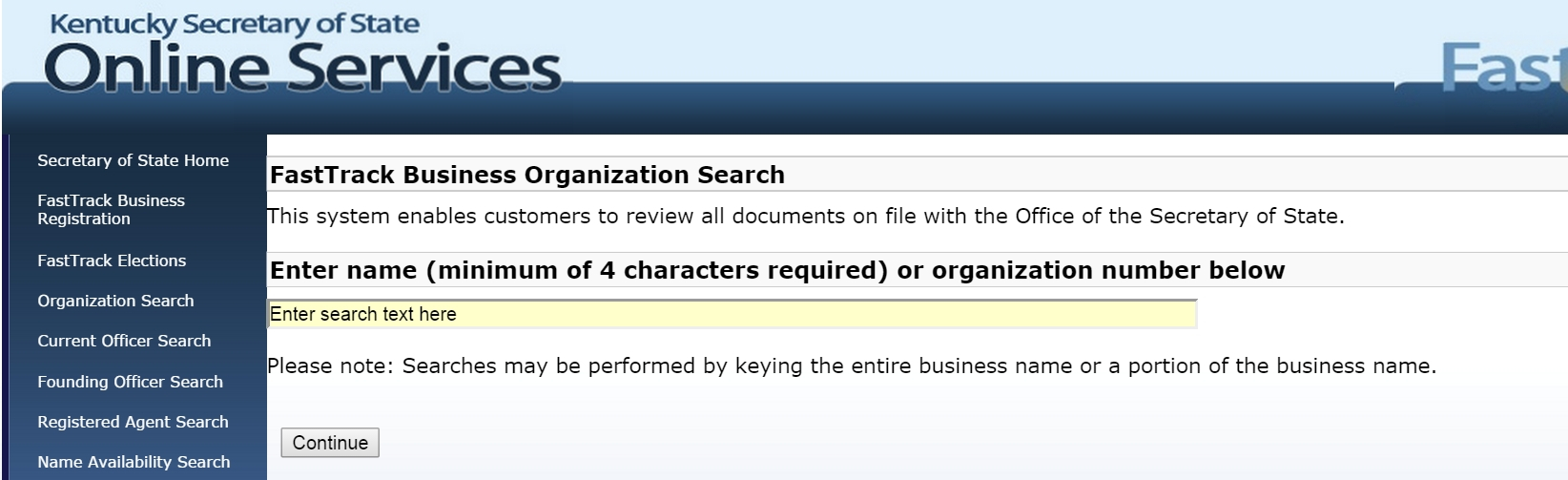 Kentucky Business Entity And Corporation Search Ky Secretary Of In Oregon State Business Registry
