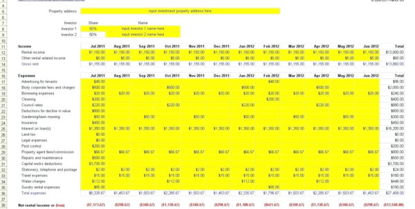 Landlord Excel Template Property Managementsheet Expenses Free In Landlord Accounting Spreadsheet