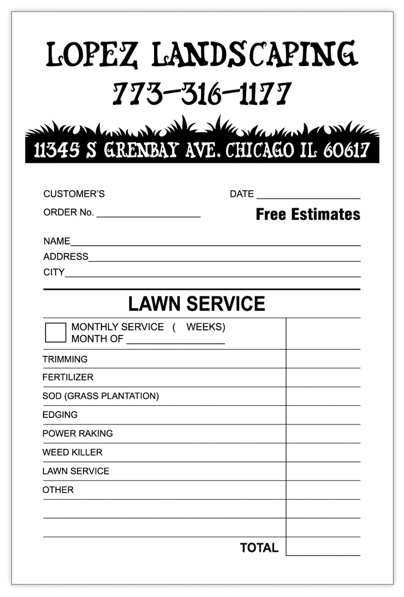 Landscaping Invoice Template Word | Invoice Example Lawn Care Excel To Landscaping Invoice Template