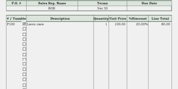 Lawn Care Invoice Template – Lawn Mowing Invoice – Invoice And To Lawn Care Invoice Template