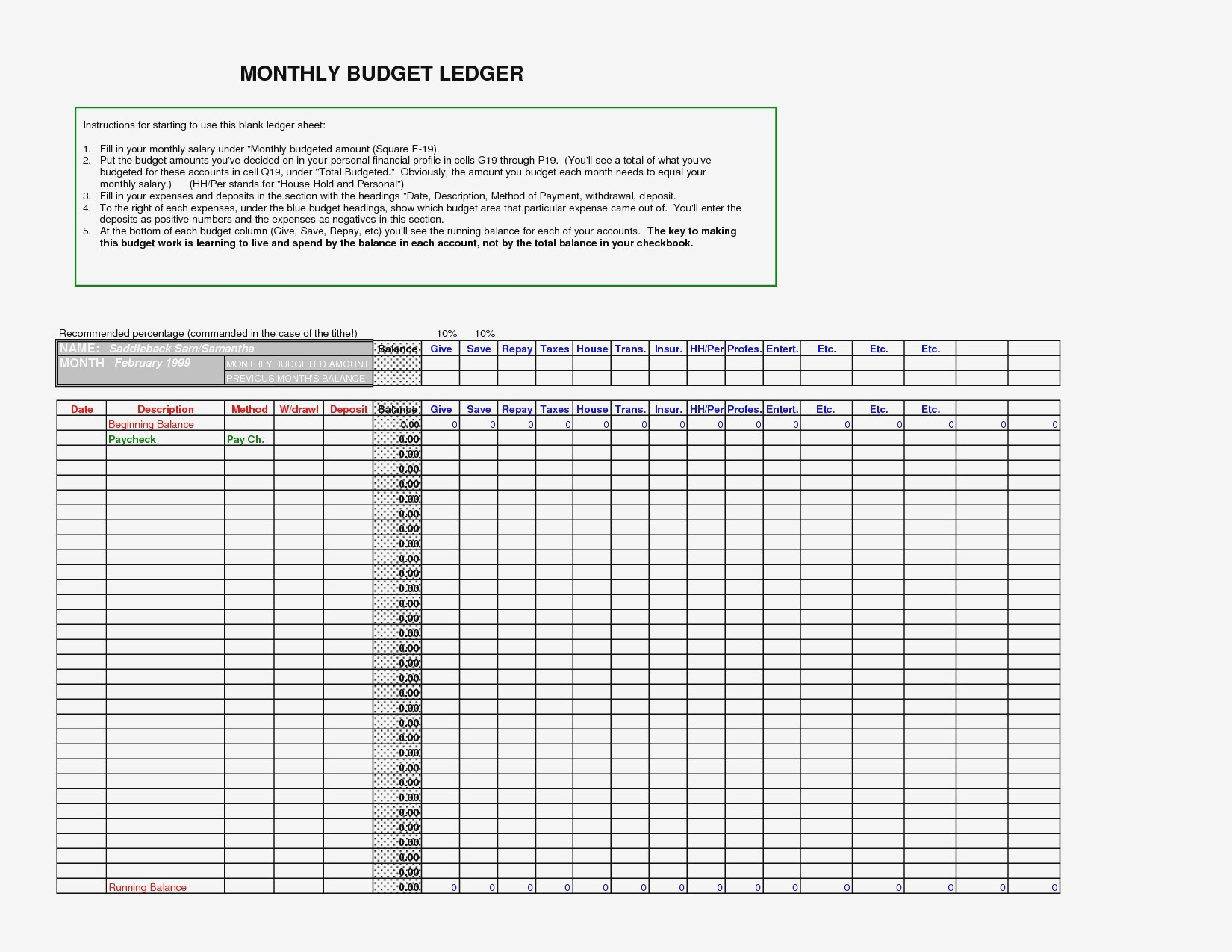 Ledger Template Small Business Templates Excel Inspirationa Of With Small Business Ledger Template