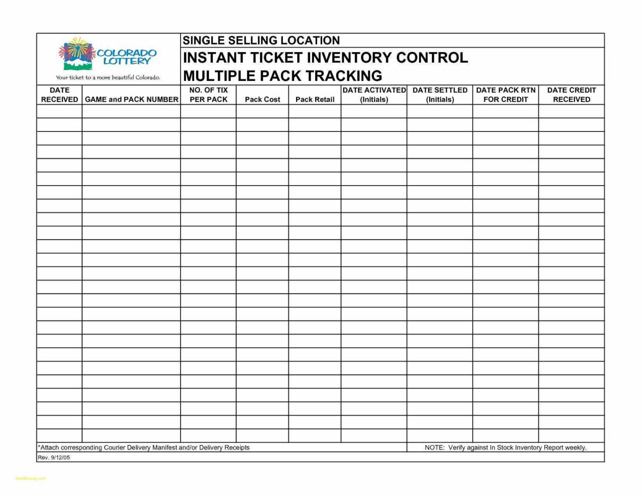 Lottery Inventory Spreadsheet   Awal Mula In Blank Inventory Sheet Template
