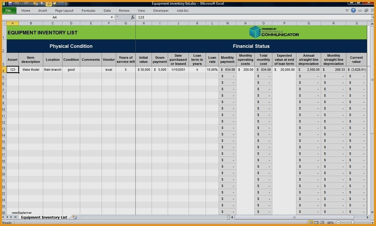 Luxury Excel Inventory Templates | Weeklyplanner.website With Excel In Inventory Tracking Template Free