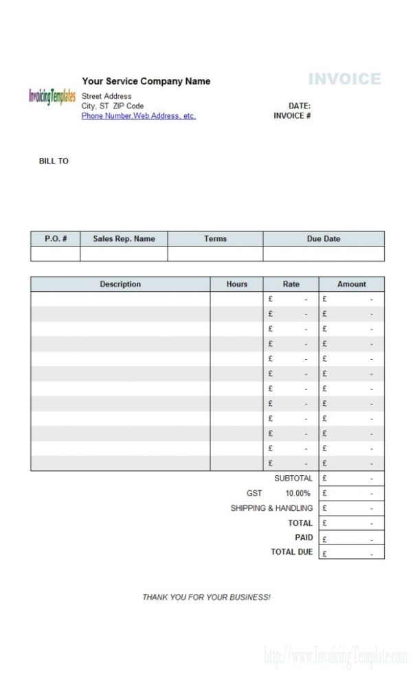 Mac Invoice Template Office Rental Invoice Template | Invoice Template Inside Invoice Templates For Mac