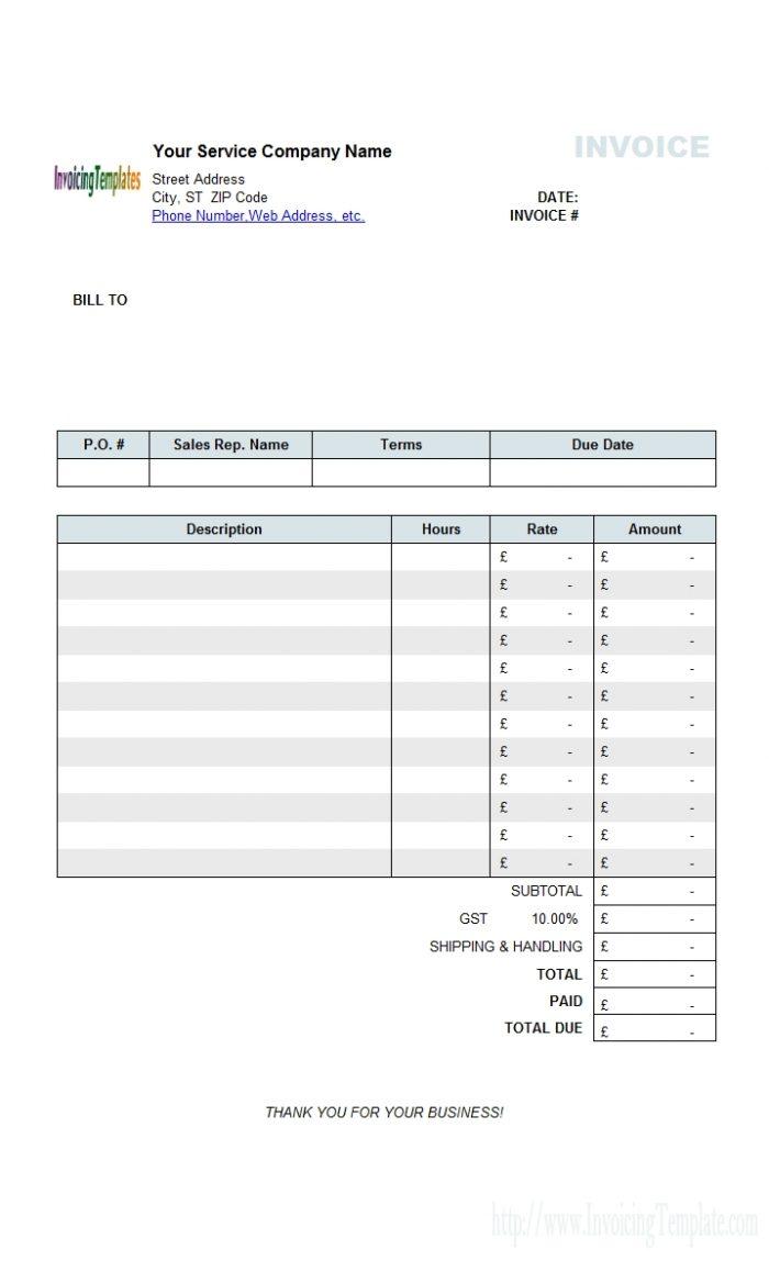 Mac Invoice Template Office Rental Invoice Template | Invoice Template Inside Invoice Templates For Mac