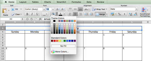 Make A 2018 Calendar In Excel (Includes Free Template) And How Do You Do Spreadsheets