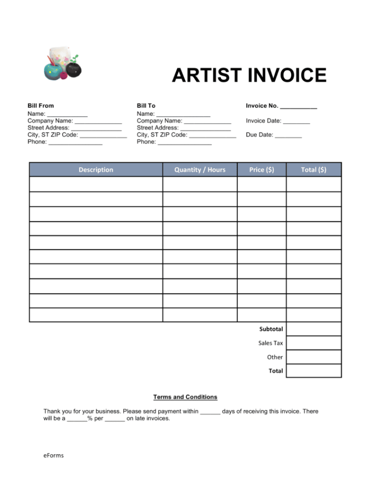 Makeup Artist Invoice Template Free   Los Angeles Portalen With Artist Invoice Samples