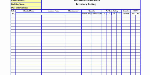 Makeup Inventory Spreadsheet Inspirational Chemical Inventory List Throughout Inventory List Spreadsheet
