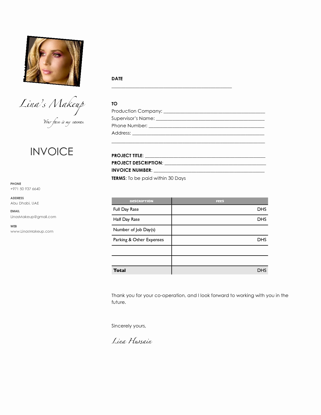 Makeup Invoice Template New Artist Invoice Template Elegant Makeup To Artist Invoice Samples